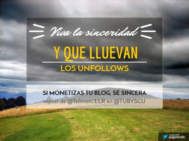 sinceridad y unfollows