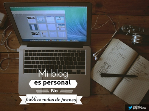 nota d eprensa para bloggers
