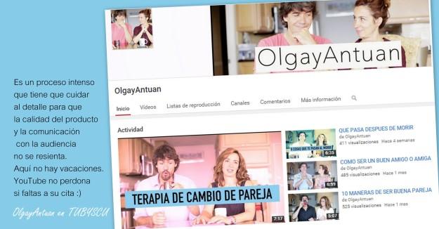Entrevista a los youtubers del canal Olga y Antuan