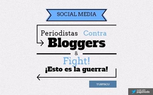periodistas contra bloggers